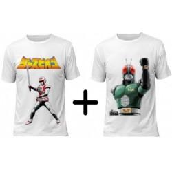 (Promoção) 2 Camisetas 1 Jaspion e 1 Black RX - Modelo 01