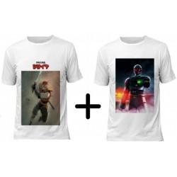 (Promoção) 2 Camisetas 1 Jiraiya e 1 Jiban - Modelo 01
