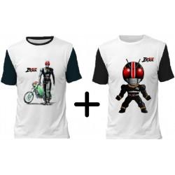 (Promoção) 2 Camisetas Kamen Rider Black - Modelo 01 e 02